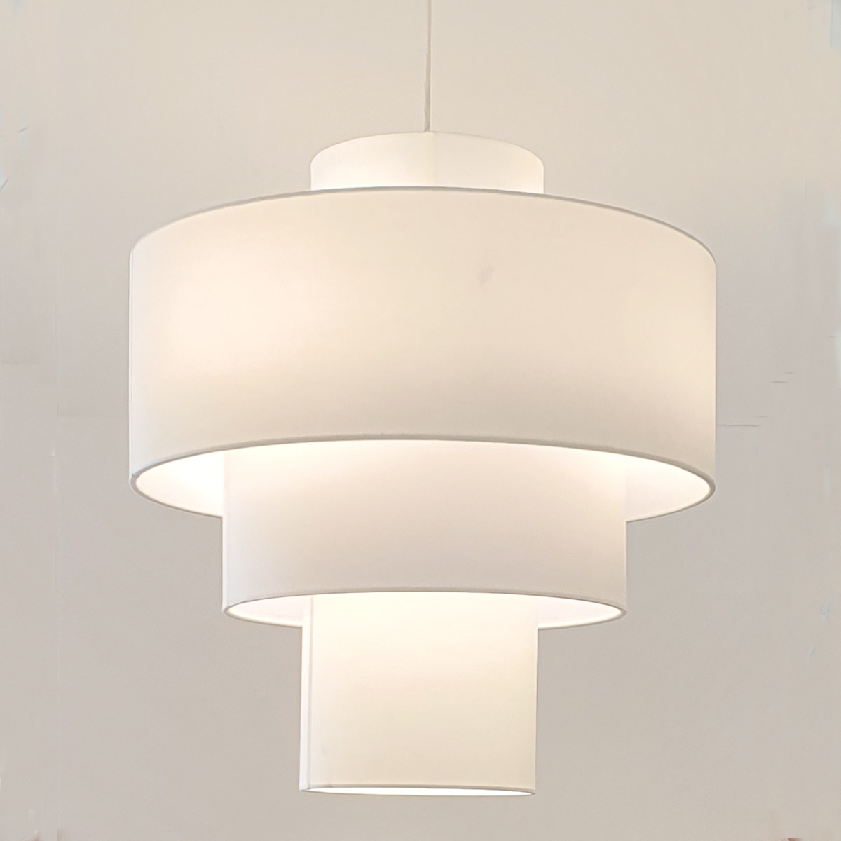 Layer fabric pendant lamp