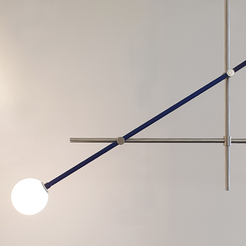 signature blue  pendant lamp